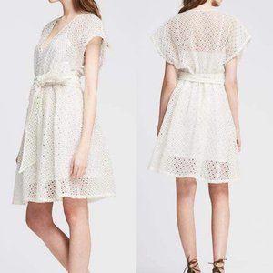 NWT Banana Republic White Eyelet Lace Dress